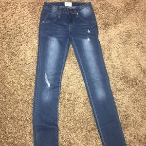 Hudson size 10 distressed jeans